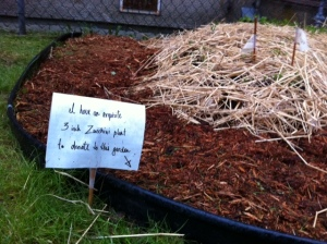 Who left this lovely note in the garden?